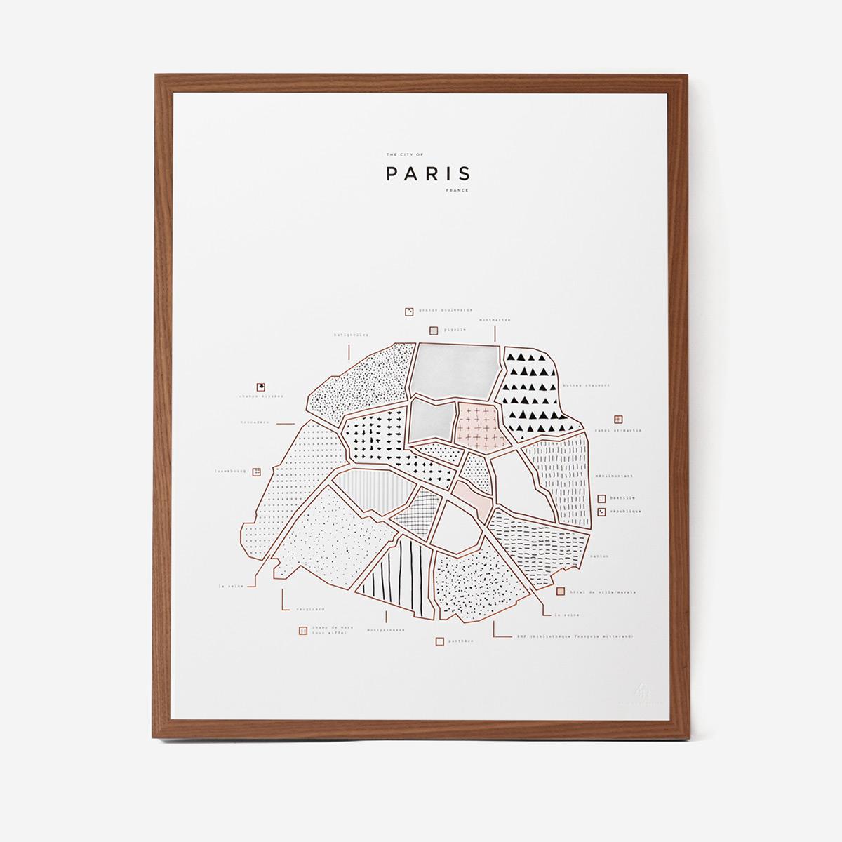 rikiki. grafik & produkt · | Visual Guide Paris Letterpress Druck