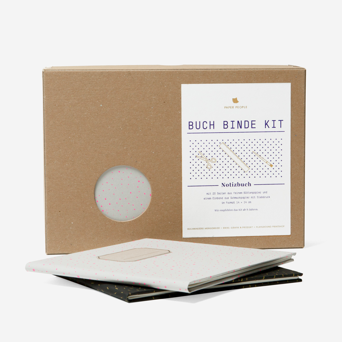 Rikiki grafik produkt book binding kit notebook fluo pink paper people book binding kit notebook fluo pink solutioingenieria Image collections