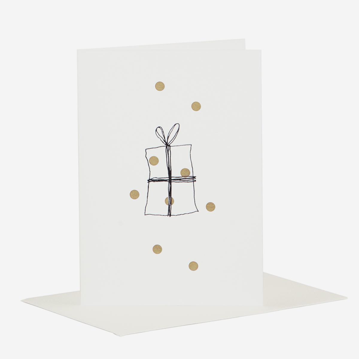 rikiki. grafik & produkt · | Goldie Geschenk Weihnachtskarte