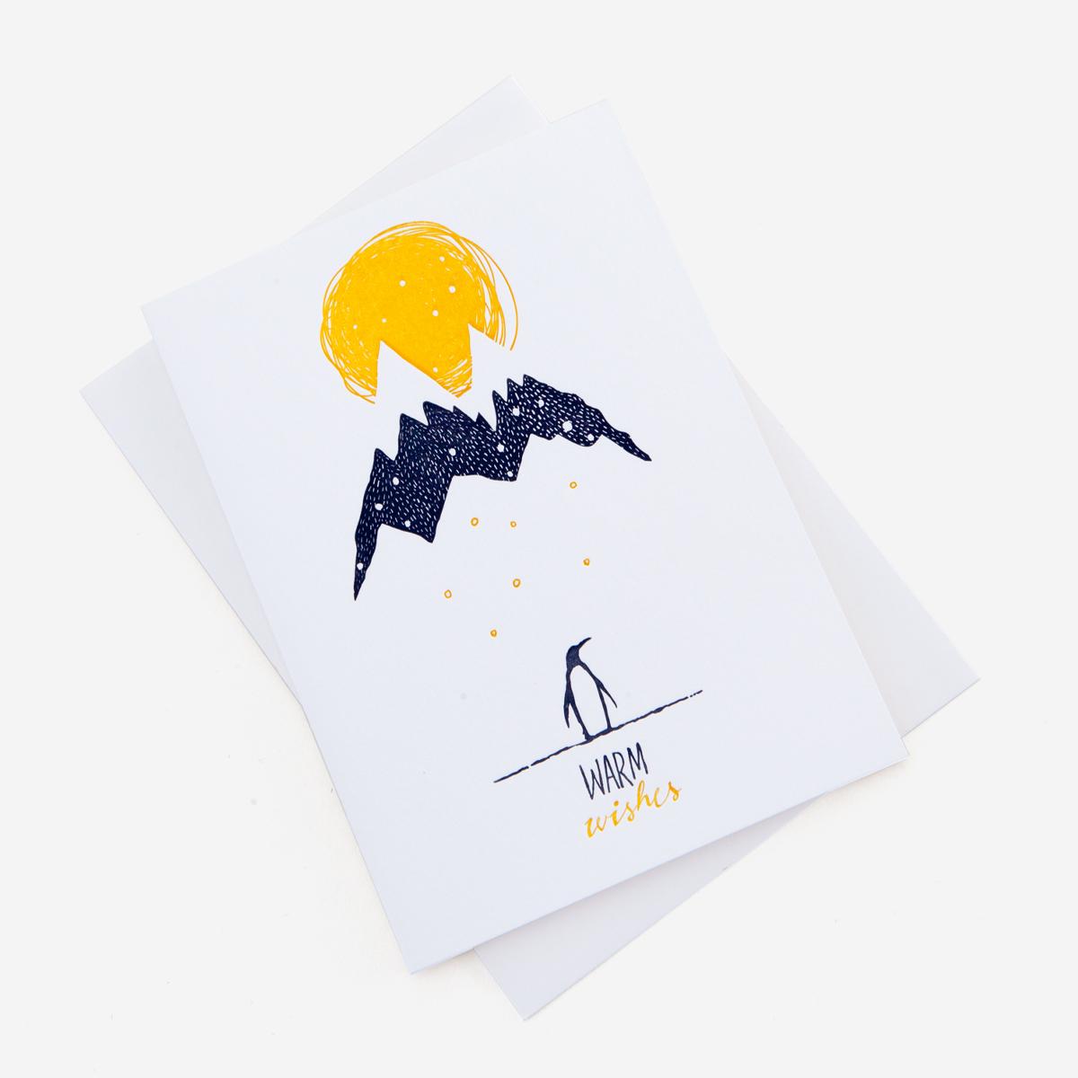 rikiki. grafik & produkt · | Snowy Penguin Weihnachtskarte