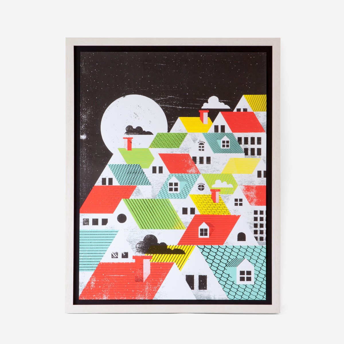 rikiki. grafik & produkt · | Roof Top Art Print Siebdruck