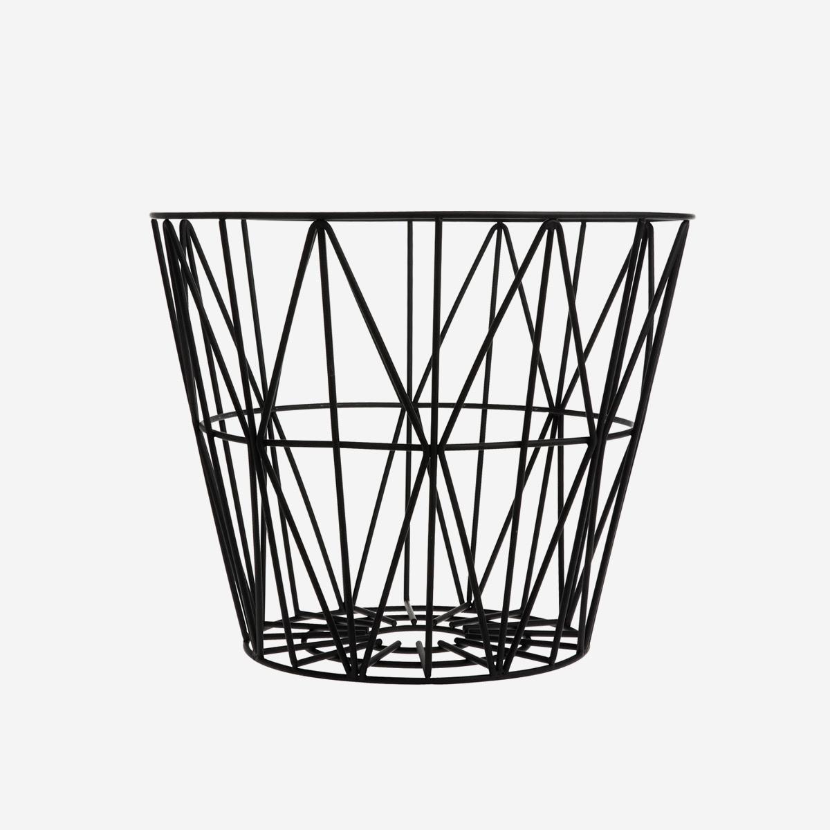 rikiki grafik produkt wire basket large black. Black Bedroom Furniture Sets. Home Design Ideas