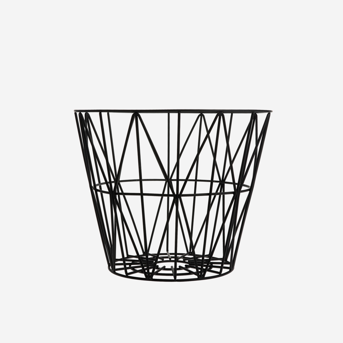 rikiki grafik produkt wire basket medium black. Black Bedroom Furniture Sets. Home Design Ideas