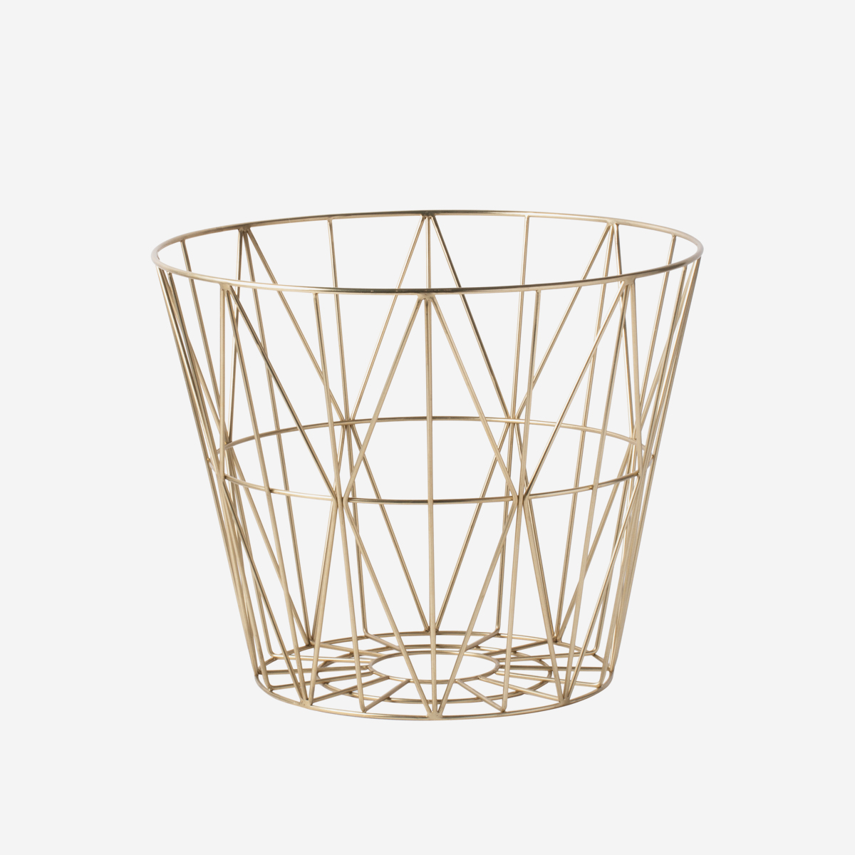 rikiki grafik produkt wire basket medium brass. Black Bedroom Furniture Sets. Home Design Ideas