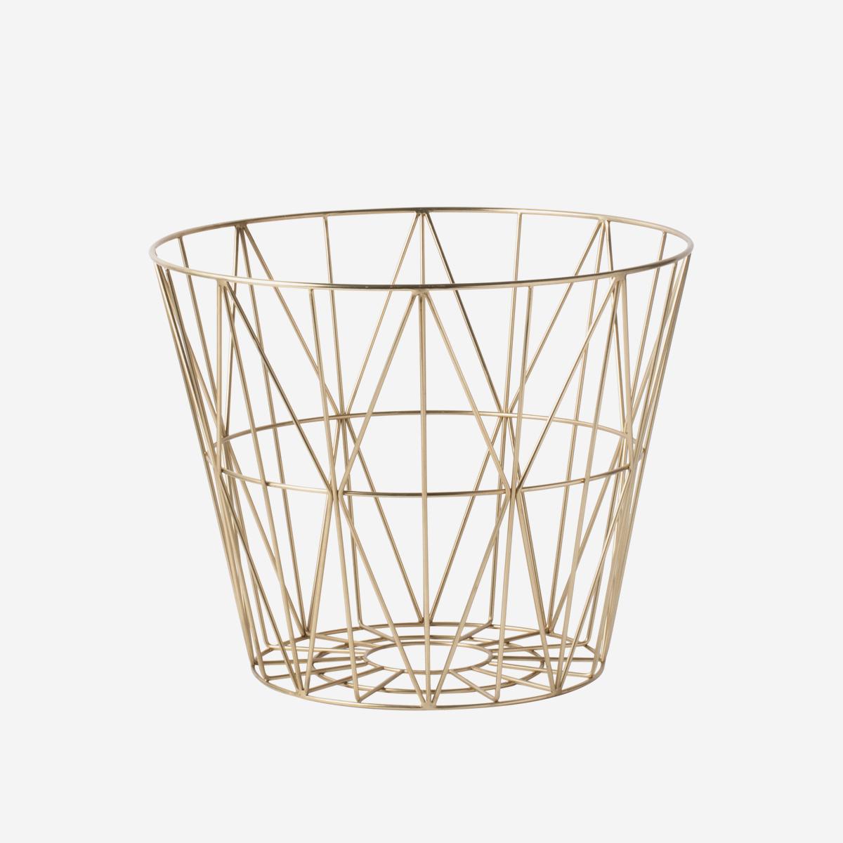 rikiki grafik produkt wire basket medium brass. Black Bedroom Furniture Sets. Home Design Ideas