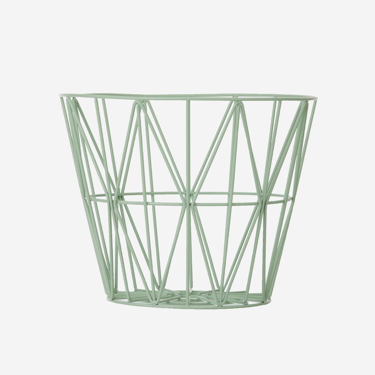 rikiki grafik produkt wire basket large mint. Black Bedroom Furniture Sets. Home Design Ideas