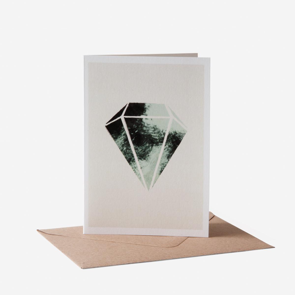 rikiki. grafik & produkt · | Diamant Onyx Grußkarte