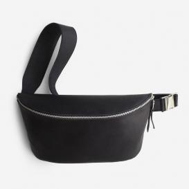 Fanny Pack Black Large Bauchtasche aus Leder