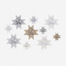 Fröbelsterne Gold / Silber – Bastelset für 15 Weihnachtssterne>     </noscript> </div>          <div class=