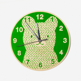 Silent Wall Clock Bear