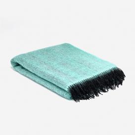 Pure Wool Blanket Herringbone - Mint>     </noscript> </div>          <div class=