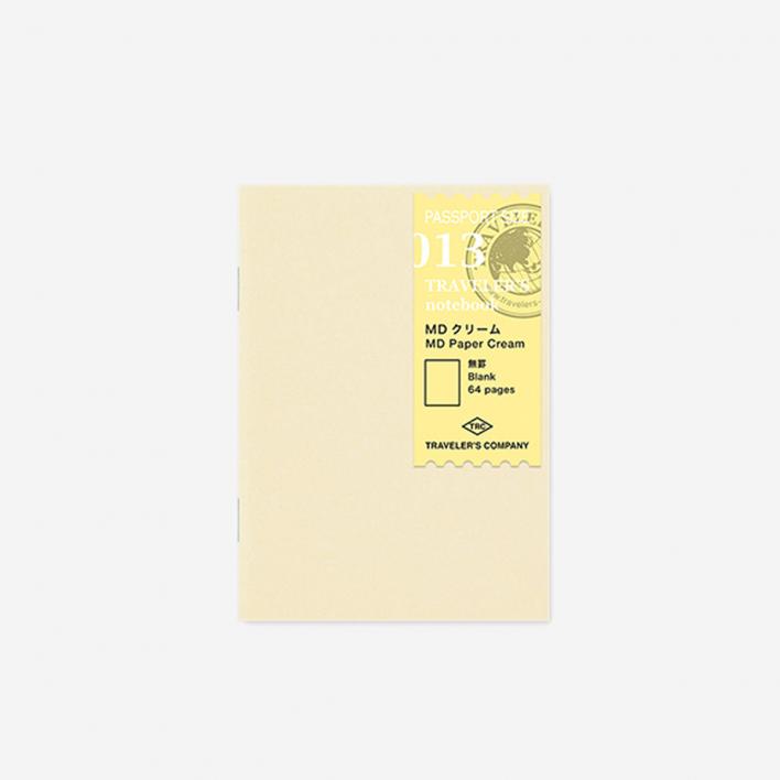 TRAVELER'S Company 013. MD Paper Cream Refil Passport Size