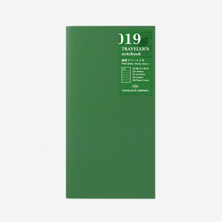 TRAVELER'S Company 019. Free Diary Weekly + Memo Refill