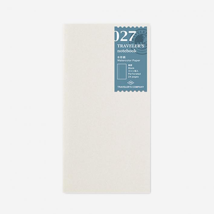 TRAVELER'S Company 027. Watercolor Paper Refill