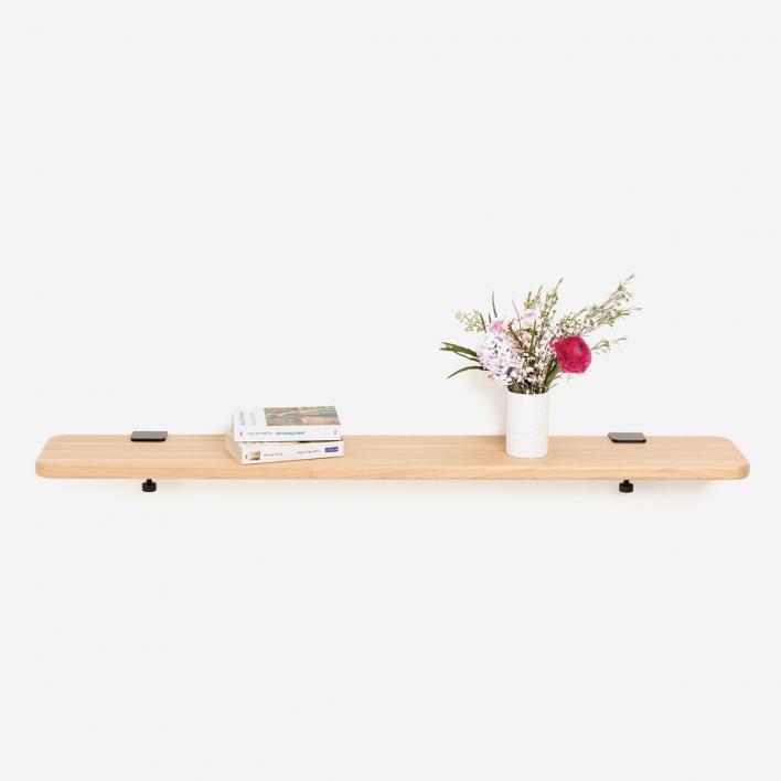 Tiptoe Solid Oak Shelf 120 × 20 cm Ash Pink 120 × 20 cm | Ash Pink