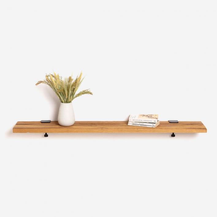 Tiptoe Wandregal Altholz 120 × 20 cm | Dark Steel