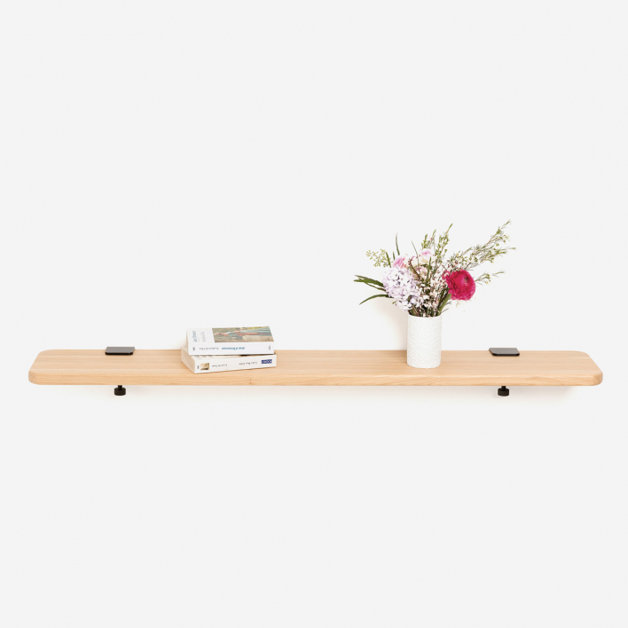 Tiptoe Solid Oak Shelf 120 × 20 cm Yellow 120 × 20 cm | Yellow
