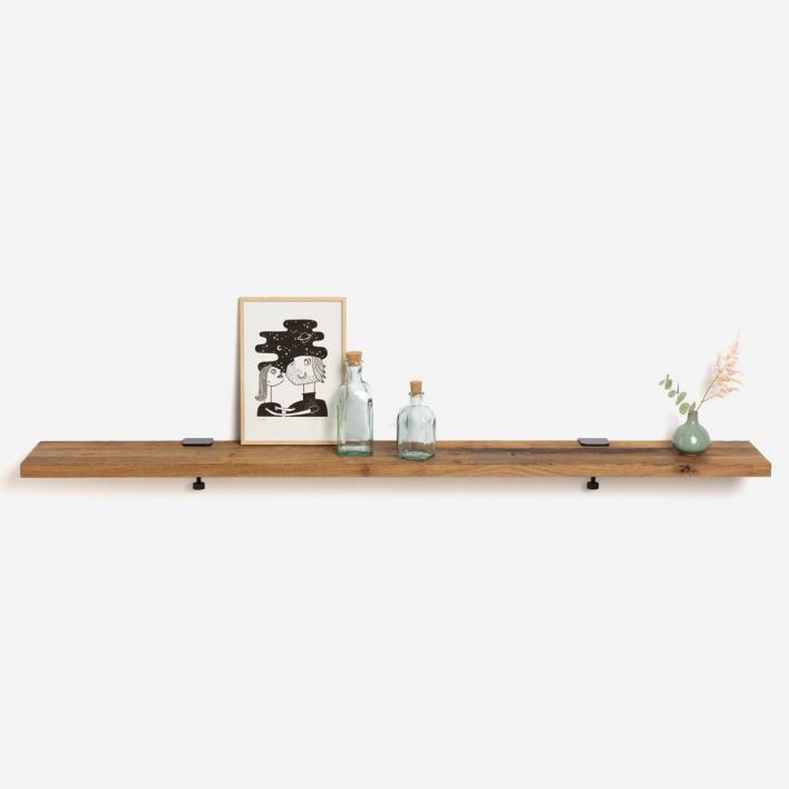 Tiptoe Wandregal Altholz 150 × 20 cm | Ash Pink