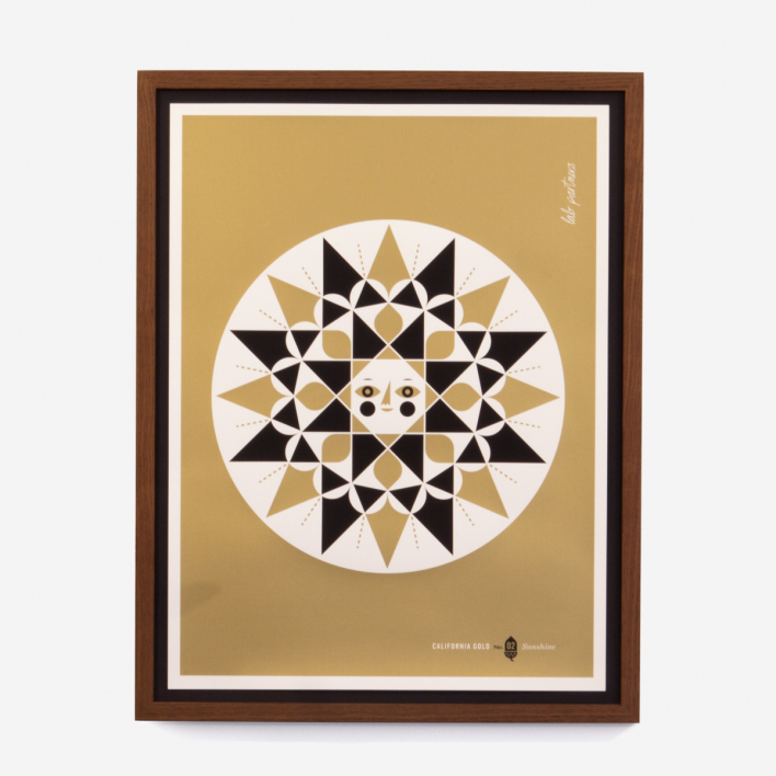 California Gold #2: The Sun Screenprint