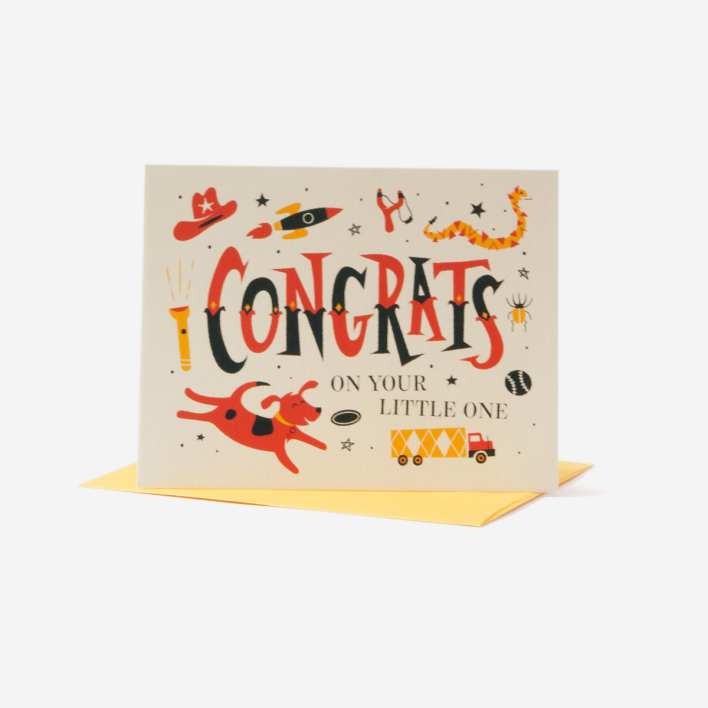55 Hi's Congrats on your little boy Grusskarte
