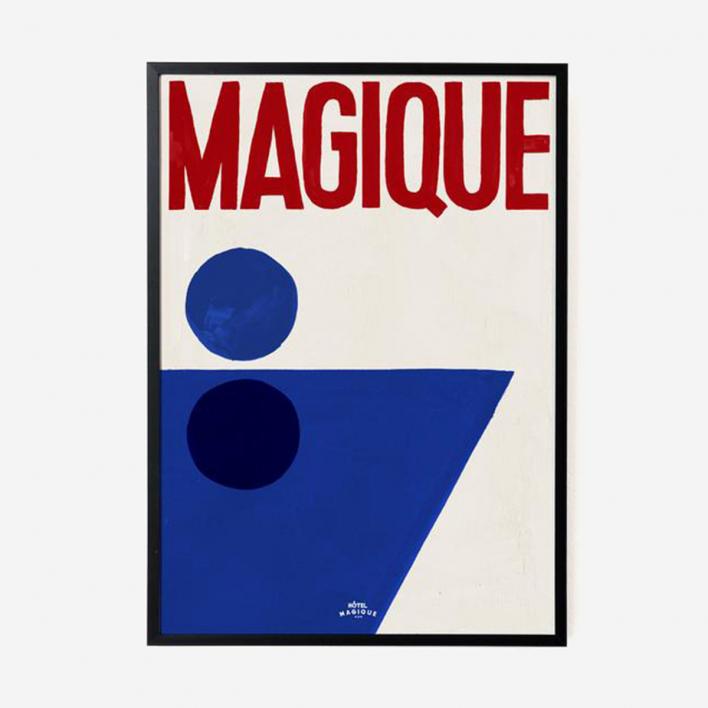 Hôtel Magique A Splash Of Magique Print - A2 Rahmen schwarz