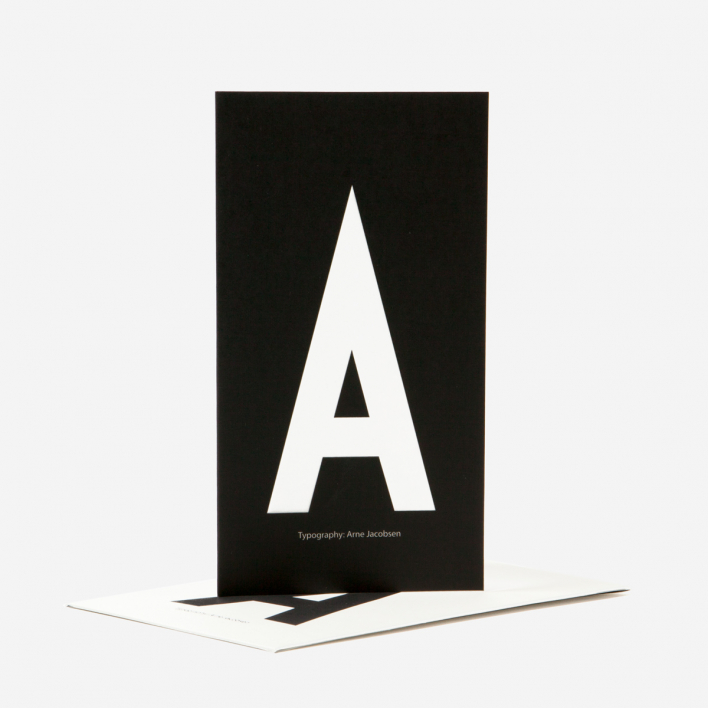 Design Letters AJ Alphabet Greeting Card