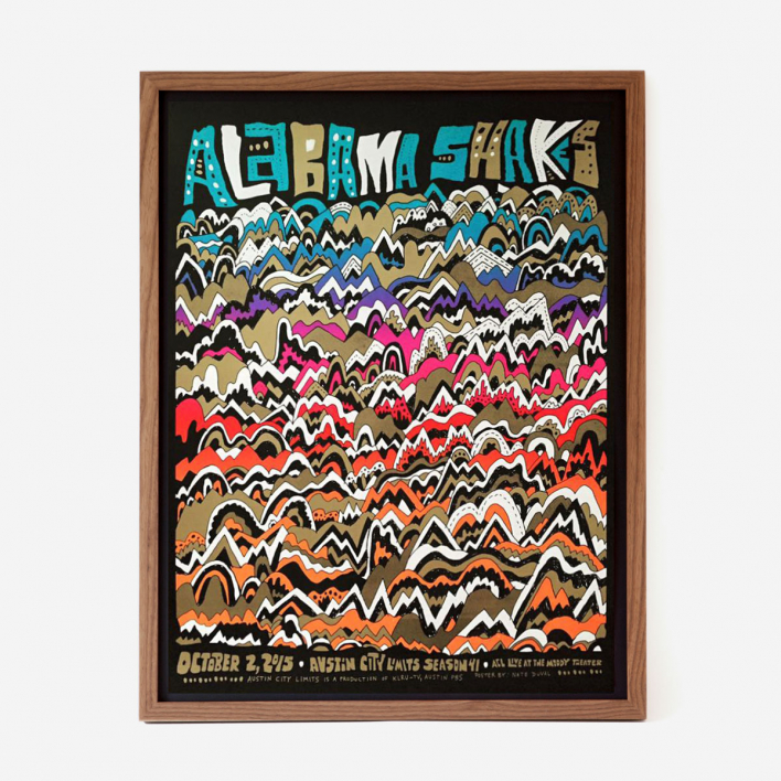 Nate Duval Alabama Shakes Screenprint Gigposter