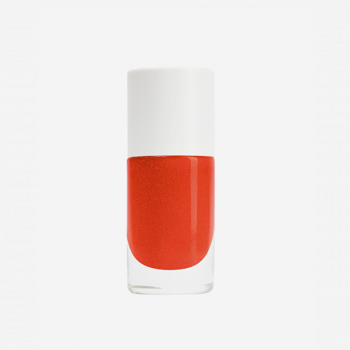 Nailmatic Aqua Capucine - Orange Red Shimmer Waterbased Nagellack