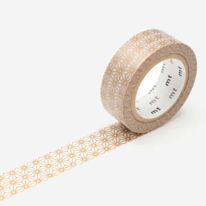 mt Asanoha Gold Masking Tape