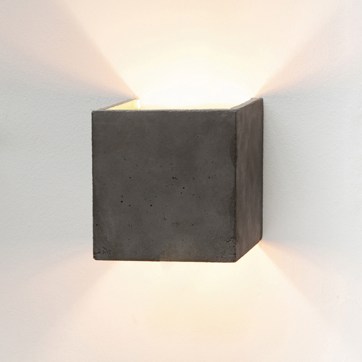GANTlights [B3]dark Wall Light Cubic Gold Gold