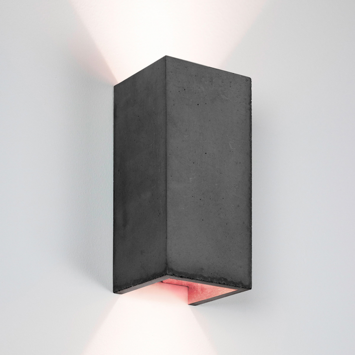 GANTlights [B8]dark Wall light Rectangular