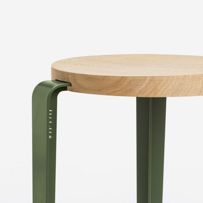 Tiptoe BIG LOU Bar Stool Rosemary Green Solid Oak Rosemary Green | Solid Oak