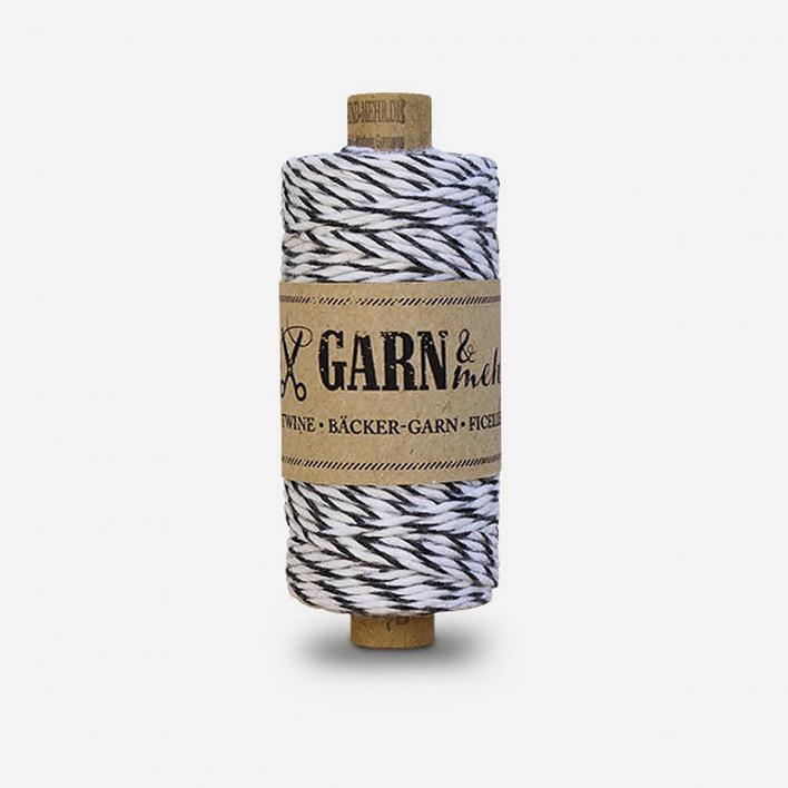 Garn & mehr Baker's Twine Black White