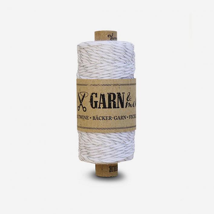 Garn & mehr Baker's Twine Silver White