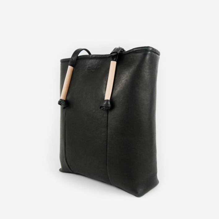 maravillas bags Barcelona Leather Tote Bag Schwarz