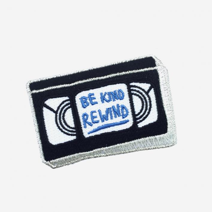 U Studio Be Kind, rewind Iron-On Patch