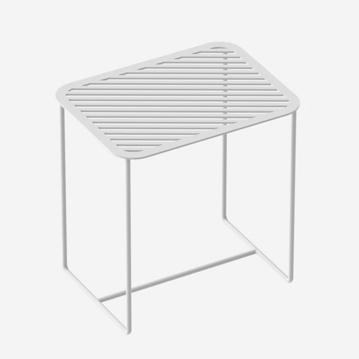 Weld & Co Beistelltisch Grid 02 - Weiss