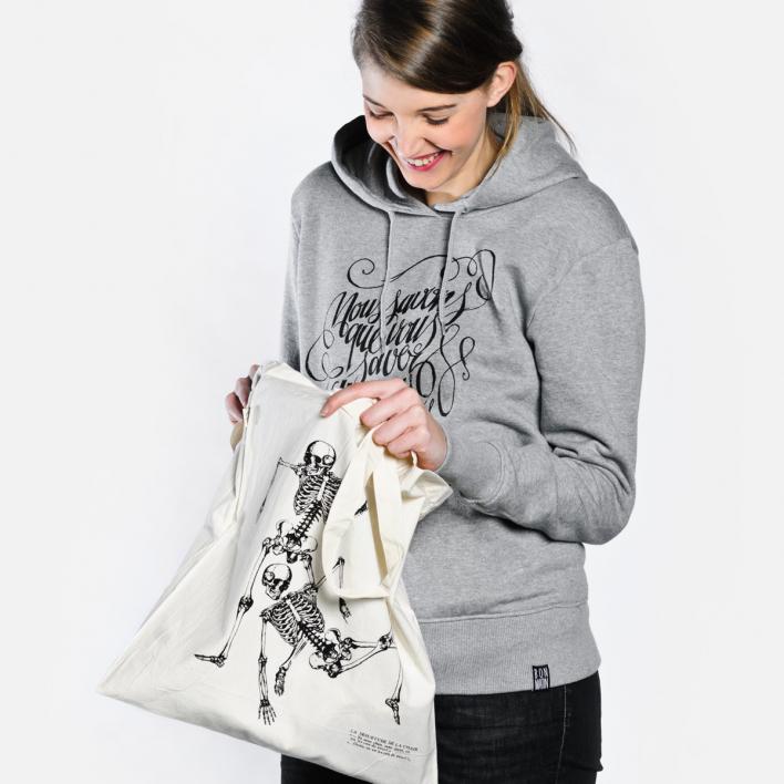 Bon Matin Tote Bag «Skelette No. 1»