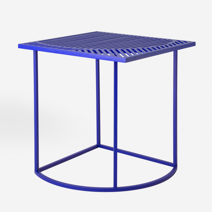Petite Friture Iso B Table Square Blue Blue