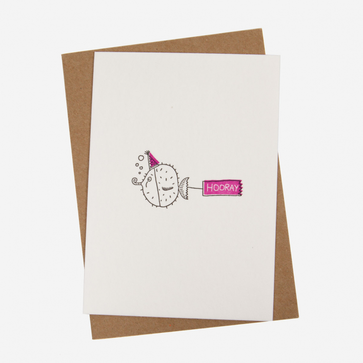 Blowfish Letterpress Postkarte                          </a>                    </div>                    <div class=