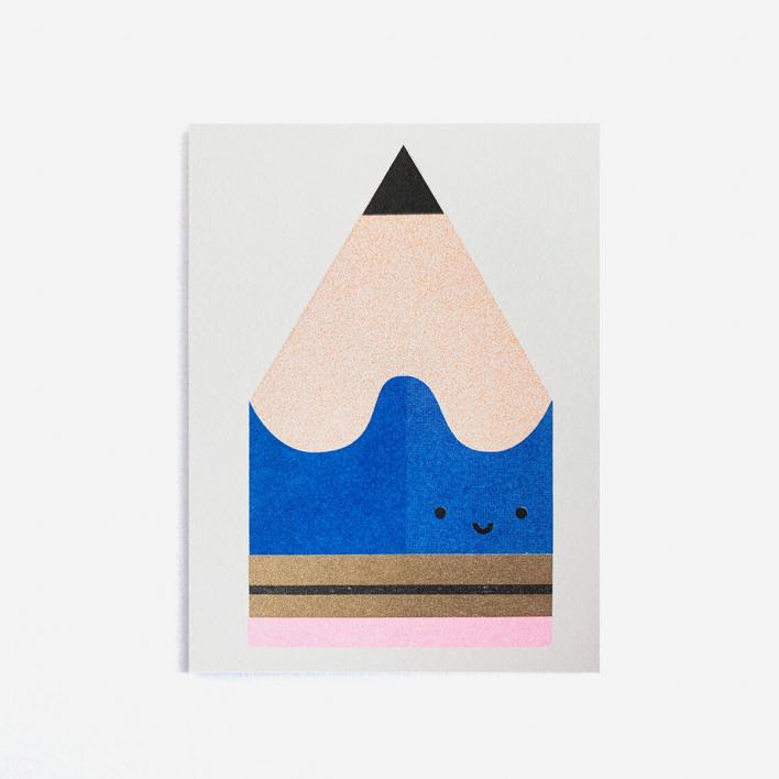 Scout Editions Blue Pencil Mini Grußkarte