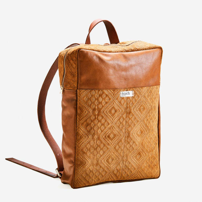 frisch Beutel Boho City Backpack Leather