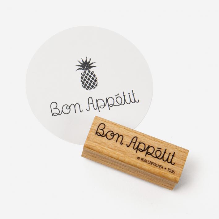 Perlenfischer Bon Appétit Stempel