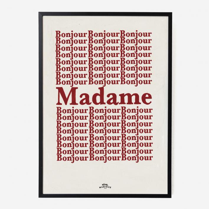 Hôtel Magique Bonjour Madame Art Print - A1