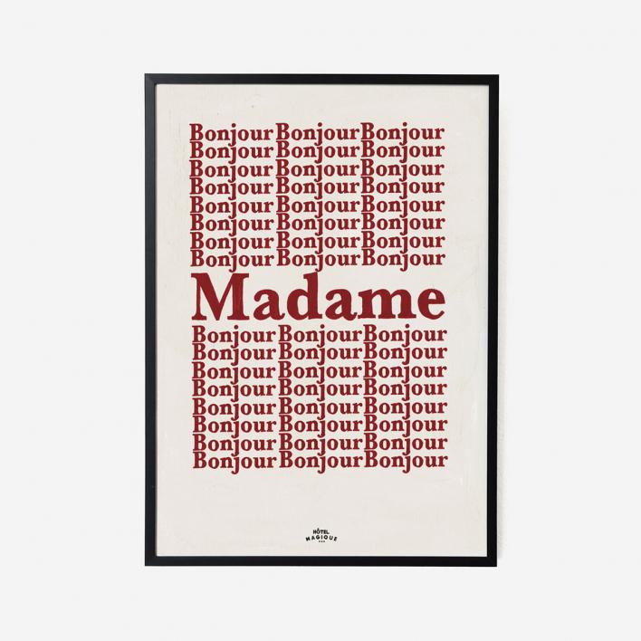 Hôtel Magique Bonjour Madame Art Print - A3