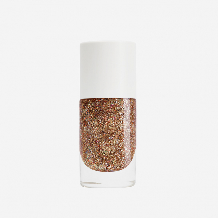 Nailmatic Bonnie - Pink Gold Glitter Nagellack