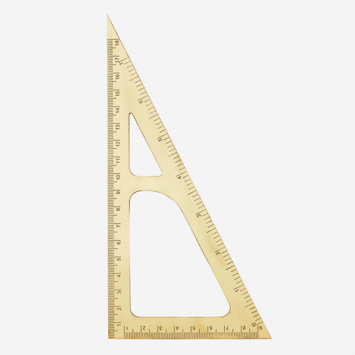 Monograph Brass Ruler Triangle