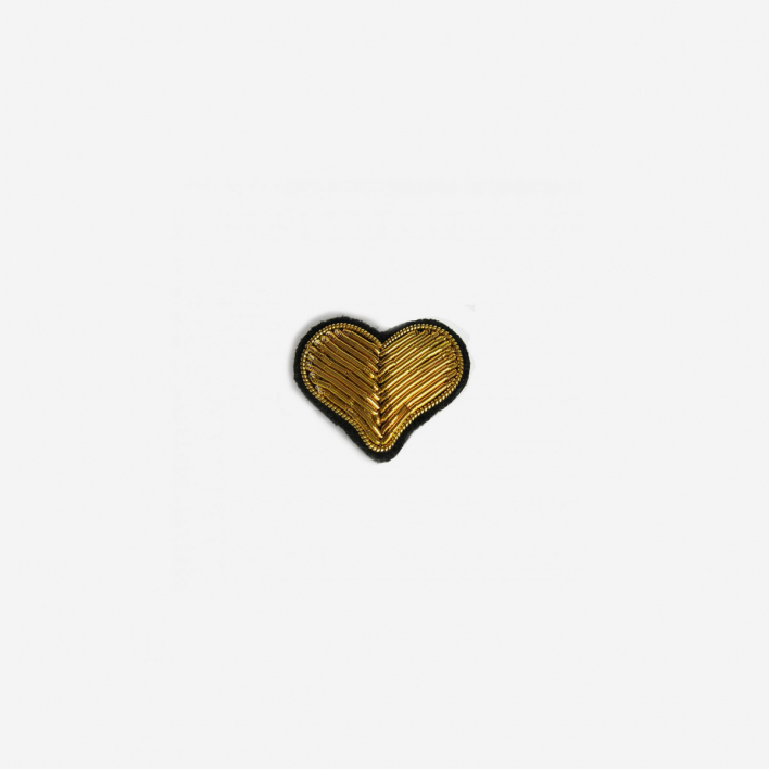 Macon & Lesquoy Brosche Herz Gold