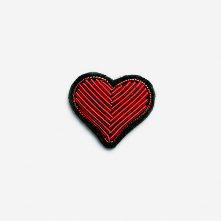 Macon & Lesquoy Brooch Red Heart