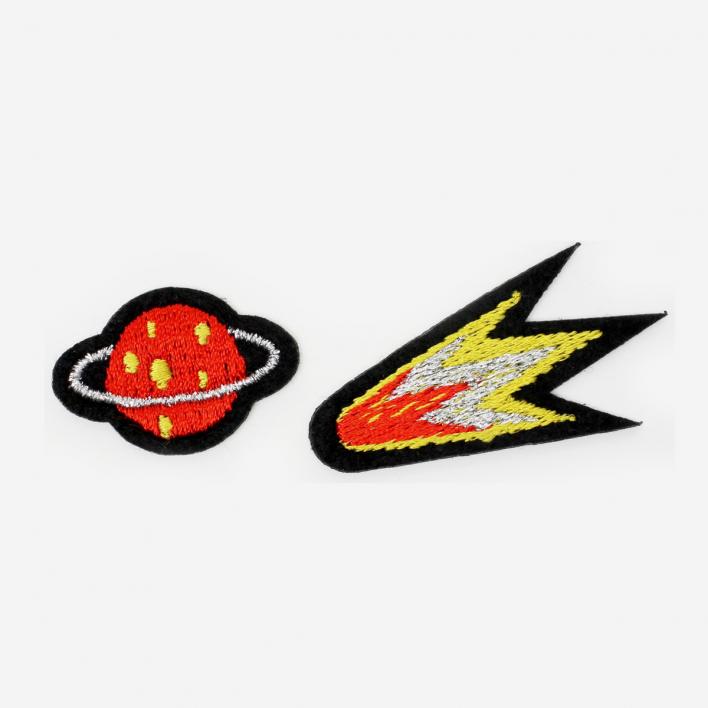 Macon & Lesquoy Bügel-Aufnäher Komet & Saturn